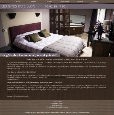 Site Web pour des chambres d'hotes en Ille et Vilaine